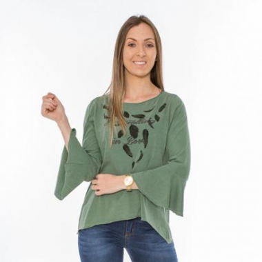Blusa Hiatto Falling In Love Chestnut Rose Feminina-Feminino