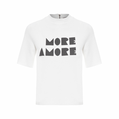 Blusa Manga Curta More Amore Suite - Off White
