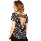Blusa My Favorite Thing(s) Floral Preto