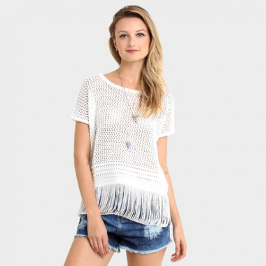 Blusa Pop Up Store Tricot Franjas