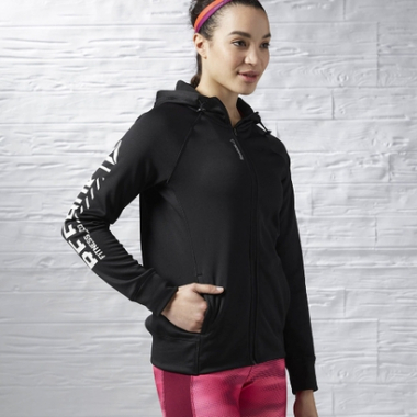 Blusa Reebok Workout Ready Zip-Feminino