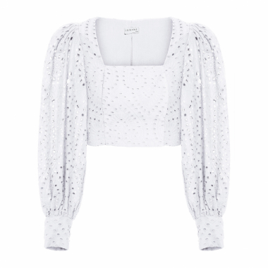 Blusa Top Cropped Laise - Off White