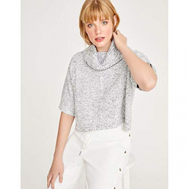Blusa Tricot Cropped-Off White-P