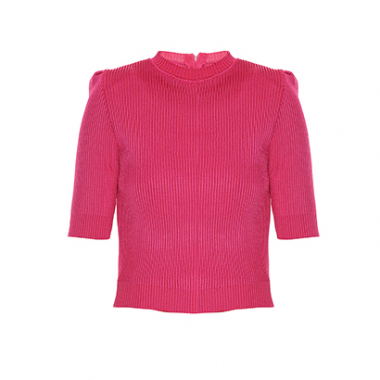 Blusa Tricot Ombreira Framed