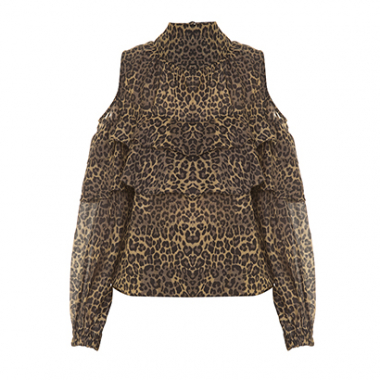 Blusa Tulipe Onça Animal Print Lilly Sarti