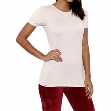 Blusa You Two Manga Curta Feminina-Feminino