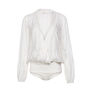Body Amplo Listras Canal - Off White