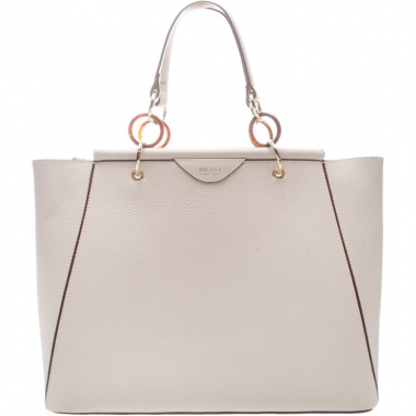 fee3256171 Bolsa Couro Shopping Grande Pierina Off White