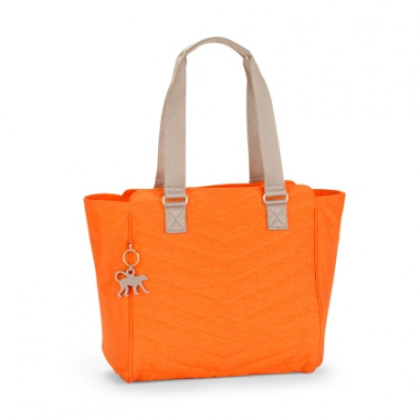 Bolsa De Ombro Matelassê Juliene Laranja Spicy Orange Q (Bp) Basic Plus Kipling