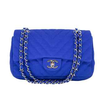 Bolsa Quilted Jersey Royal