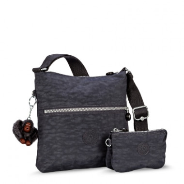 Bolsa Transversal Alexane Cinza Grey Night Kipling