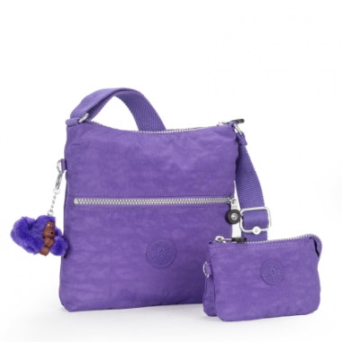 Bolsa Transversal Alexane Roxa Purple Grape Kipling