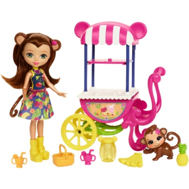 Boneca Fashion E Veículo - Enchantimals - Merit Monkey - Mattel-Feminino