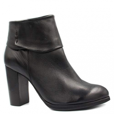 Bota Ankle Boot Zariff Shoes Couro Salto Alto
