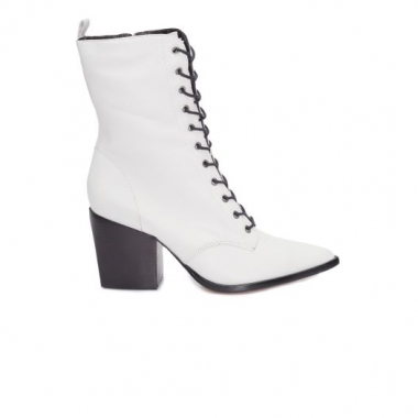Bota Lace-Up Combat Schutz - Off White