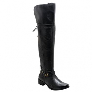 Bota Over The Knee Couro D&r Shoes Feminina-Feminino