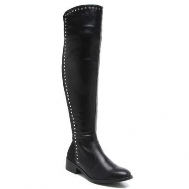 Bota Over The Knee Florentina Aplique Tachas Feminina-Feminino