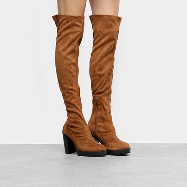 Bota Over The Knee Moleca Tratorada Feminina-Feminino