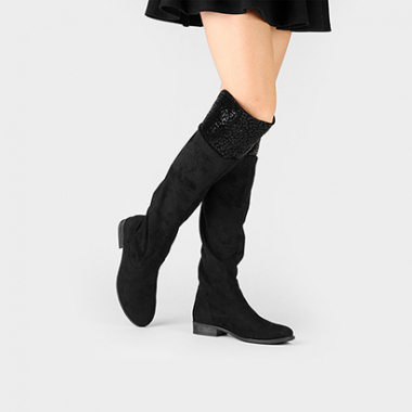 Bota Over The Knee Mooncity Vira Onça-Feminino