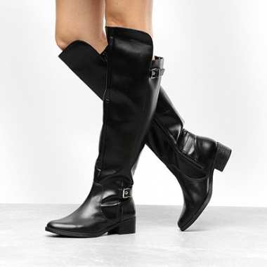 Bota Over The Knee Via Marte 2 Fivelas Feminina-Feminino