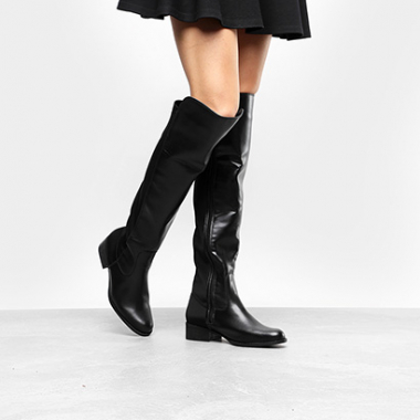 Bota Over The Knee Via Uno Flat Feminina-Feminino