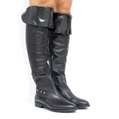 Bota Zariff Shoes Over The Knee Em Couro