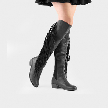 Bota Zatz Over The Knee Franjas-Feminino