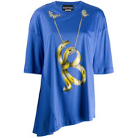 Boutique Moschino Asymmetric Hem T-Shirt - Azul