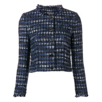 Boutique Moschino Cropped Tweed Jacket - Azul