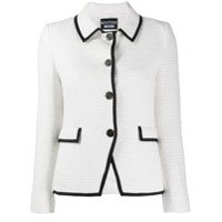 Boutique Moschino Jaqueta De Tweed Com Textura - Branco