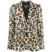 Boutique Moschino Blazer Animal Print - Preto
