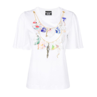 Boutique Moschino Camiseta Com Estampa De Colar - Branco