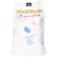 Boutique Moschino Regata Com Estampa - Branco
