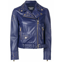 Boutique Moschino Studded Biker Jacket - Azul