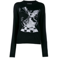 Boutique Moschino Suéter Chess Dancers De Lã - Preto
