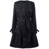 Boutique Moschino Trench Coat Com Pregas - Preto