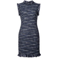 Boutique Moschino Vestido Slim Bordado - Azul