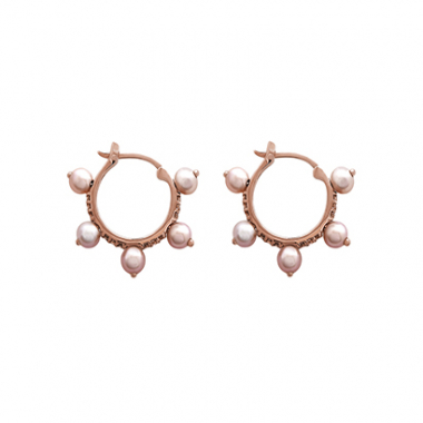 Brinco Argola Ouro Rose E Brilhantes Brown Julia Blini