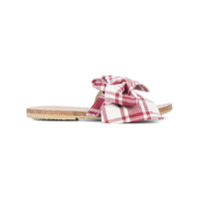 Brother Vellies Slide Burkina Papaye Listrado - Vermelho
