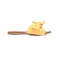 Brother Vellies Slide Com Laço - Amarelo