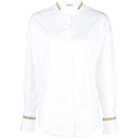 Brunello Cucinelli Bead Embroidered Shirt - Branco