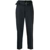 Brunello Cucinelli belted cropped trousers - Azul