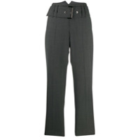Brunello Cucinelli Belted Cropped Trousers - Cinza