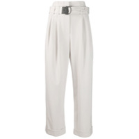 Brunello Cucinelli Belted Cropped Trousers - Neutro