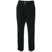 Brunello Cucinelli Belted Cropped Trousers - Preto