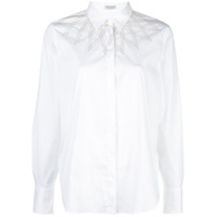 Brunello Cucinelli Contrasting Topstitching Shirt - Branco