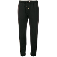 Brunello Cucinelli Crop Length Track Trousers - Preto