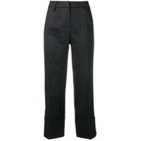Brunello Cucinelli Crop Length Trousers - Preto
