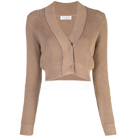 Brunello Cucinelli Cropped Cardigan - Marrom