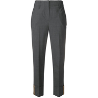 Brunello Cucinelli Cropped Fitted Trousers - Cinza